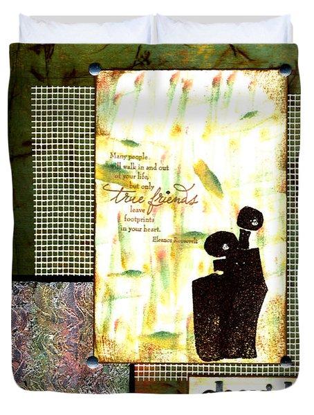 Cherished Friends Duvet Cover by Angela L Walker