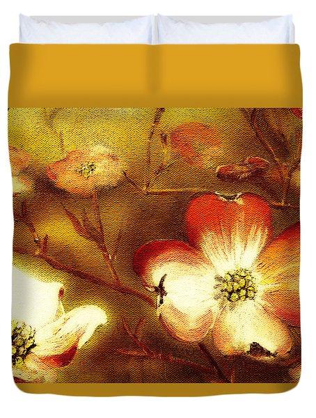 Cherokee Rose Dogwood - Glow Duvet Cover
