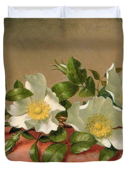 Cherokee Roses Duvet Cover by Martin Johnson Heade