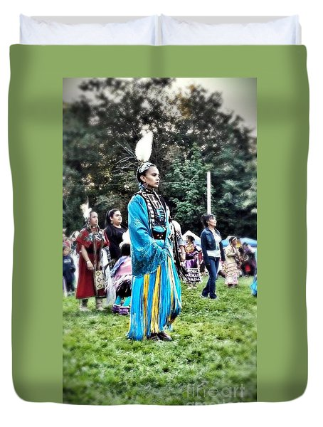 Cherokee Warrior Duvet Cover