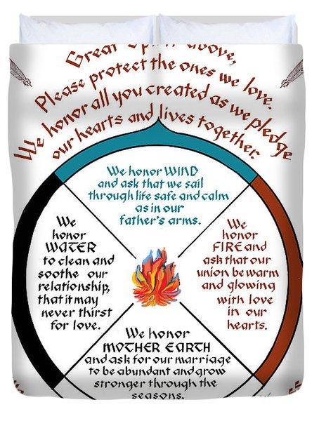 Cherokee Wedding Blessing Duvet Cover
