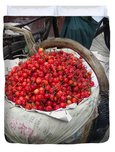 Cherries And Berries Duvet Cover