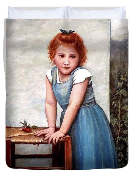 Cherries Duvet Cover by Judy Kirouac