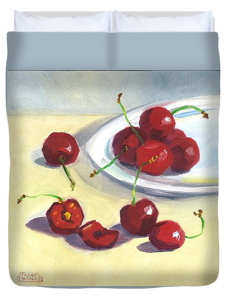 Cherries On A Plate Duvet Cover