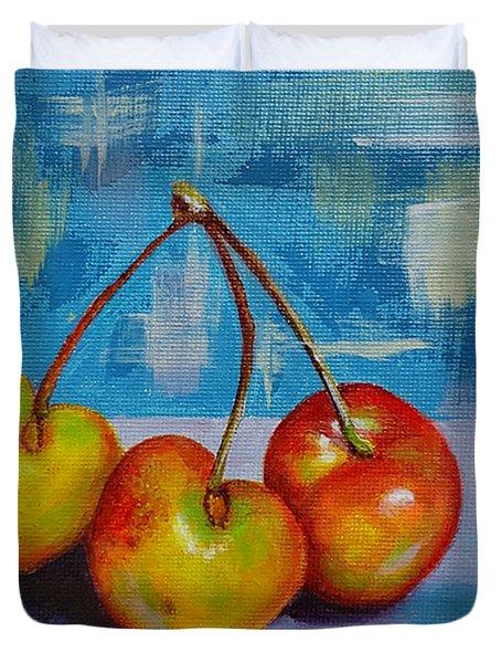 Cherries Trio Duvet Cover