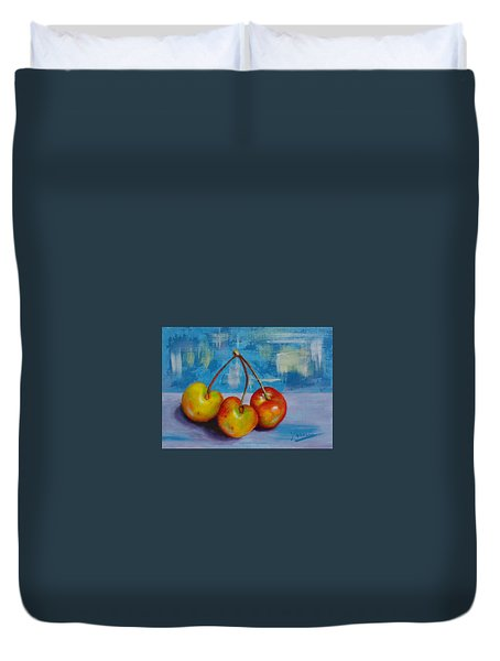 Cherries Trio Duvet Cover