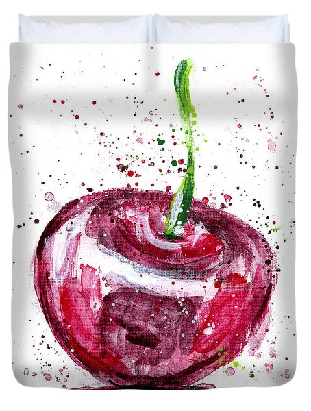 Cherry 1 Duvet Cover by Arleana Holtzmann
