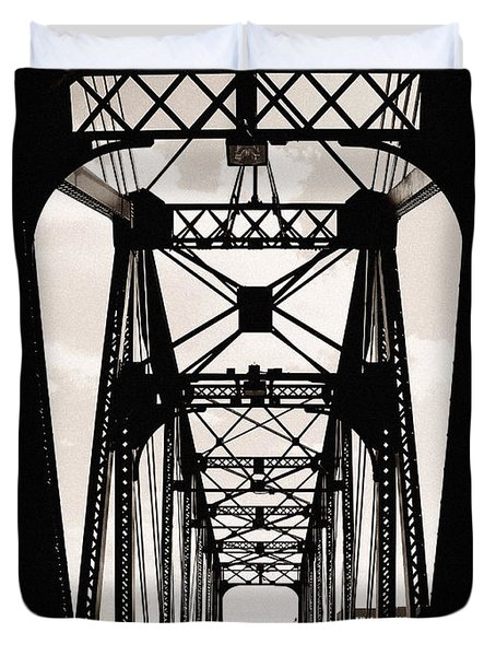 Cherry Avenue Bridge Duvet Cover by Kyle Hanson