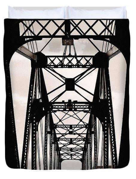 Cherry Avenue Bridge Duvet Cover