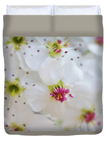 Duvet Cover featuring the photograph Cherry Blooms by Darren White
