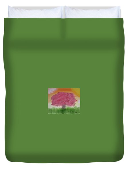 Cherry Blossom Duvet Cover by Artists With Autism Inc