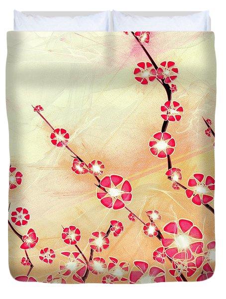 Cherry Blossom Duvet Cover by Anastasiya Malakhova