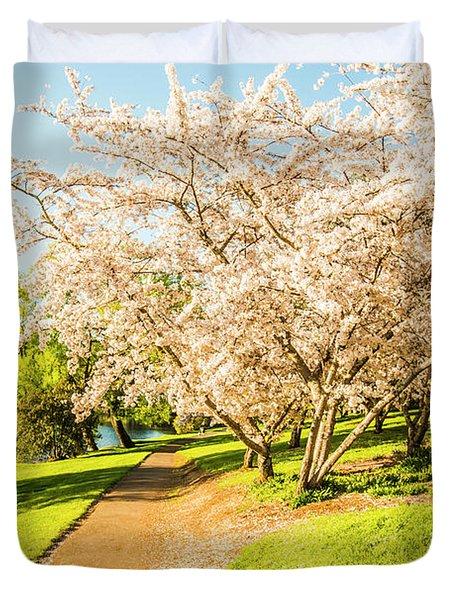 Cherry Blossom Lane Duvet Cover