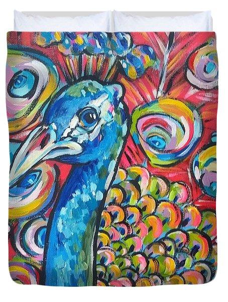 Cherry Blossom Peacock Duvet Cover