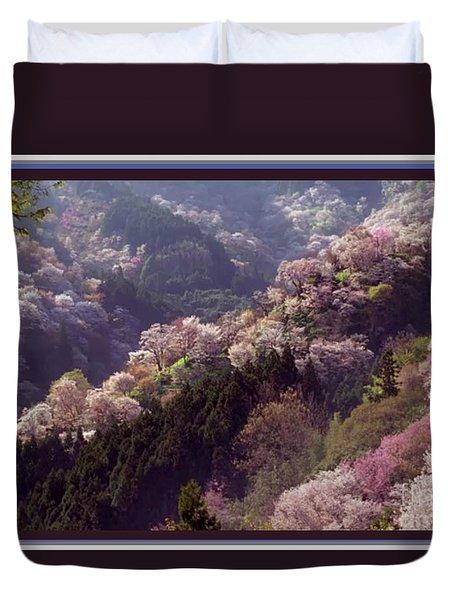 Cherry Blossom Season In Japan Duvet Cover