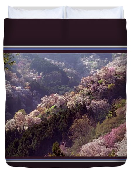 Cherry Blossom Season In Japan Duvet Cover