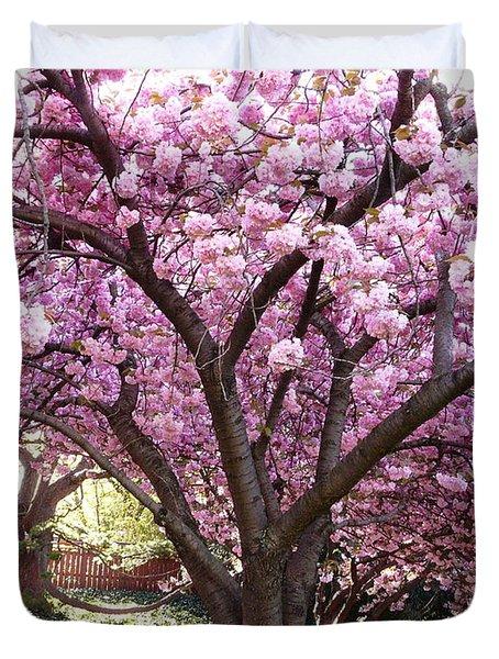 Cherry Blossom Wonder Duvet Cover
