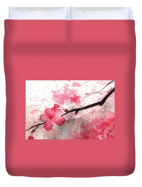 Cherry Blossoms 1 Duvet Cover