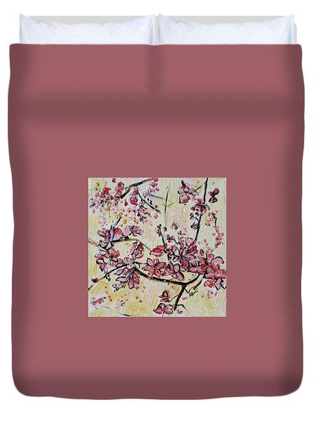 Cherry Blossoms 201751 Duvet Cover by Alyse Radenovic