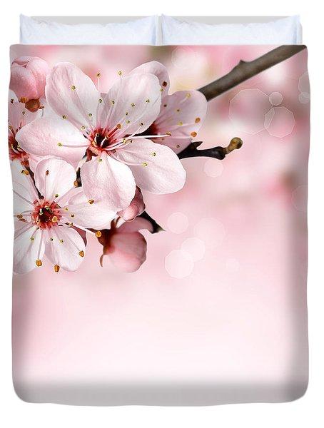 Cherry Blossoms In Bloom  Duvet Cover