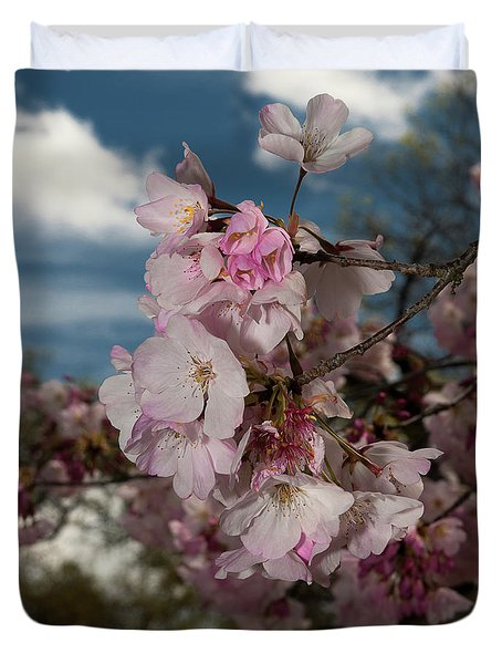 Cherry Blossoms Vertical Duvet Cover