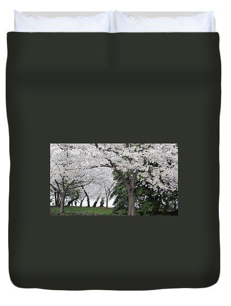 Cherry Blossoms Washington Dc Duvet Cover by Steve Archbold
