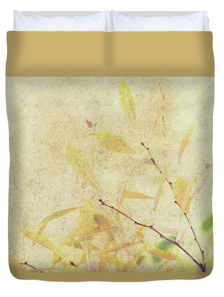 Cherry Branch On Rice Paper Duvet Cover