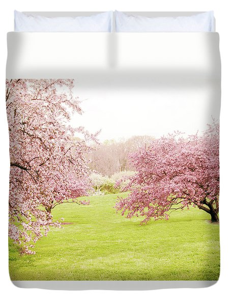 Duvet Cover featuring the photograph Cherry Confection by Jessica Jenney