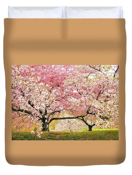 Cherry Delight Duvet Cover by Jessica Jenney