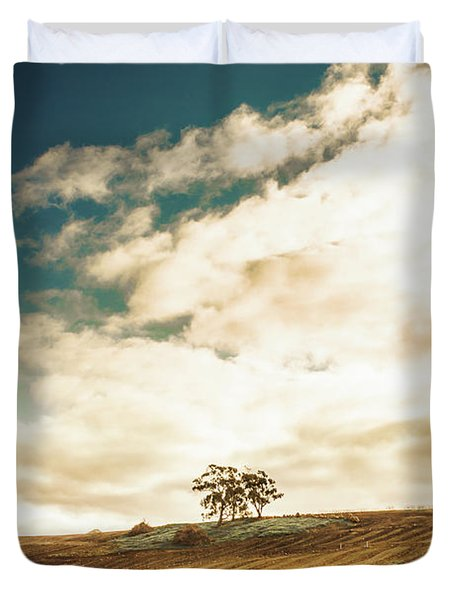 Cherry Farm In The Sewing Duvet Cover