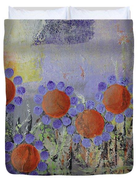 Cheery Flowers Duvet Cover