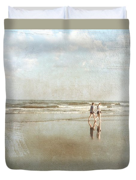 Cherry Grove Beach Walk Duvet Cover