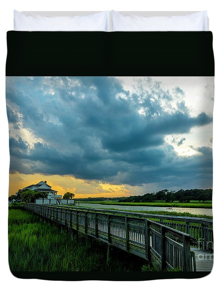 Cherry Grove Channel Marsh Duvet Cover