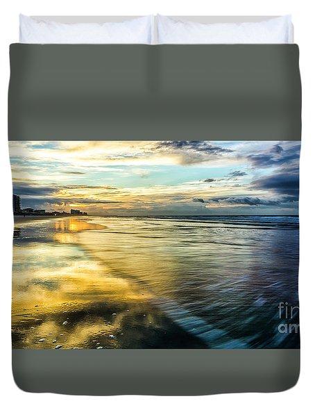 Cherry Grove Golden Shimmer Duvet Cover by David Smith