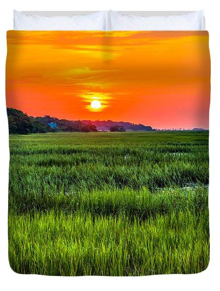 Cherry Grove Marsh Sunrise Duvet Cover