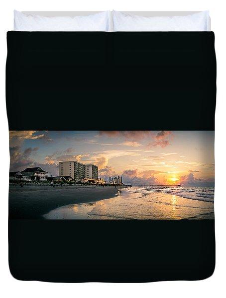 Cherry Grove Panoramic Sunrise Duvet Cover