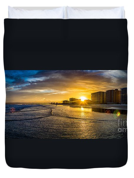 Cherry Grove Sunset Duvet Cover