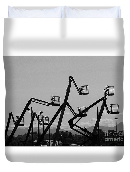 Cherry Pickers Duvet Cover by Sean Griffin