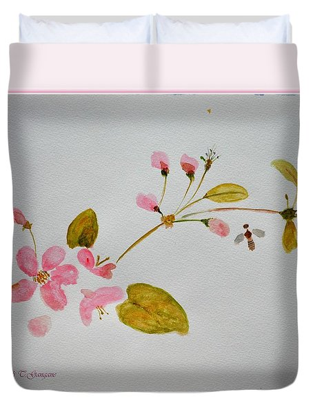 Cherry Pink Duvet Cover