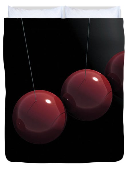 Cherry Red Knockers Duvet Cover by Richard Rizzo