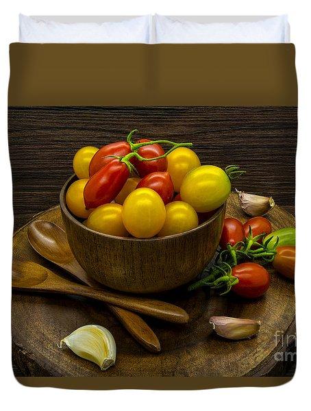Cherry Tomatoes Still Life Duvet Cover