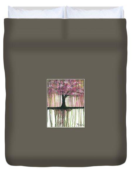 Fruit Tree #3 Duvet Cover by Rebecca Childs