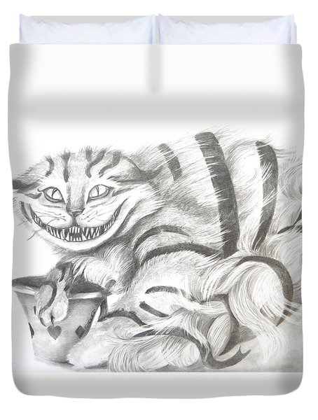 Chershire Cat  Duvet Cover by Meagan  Visser