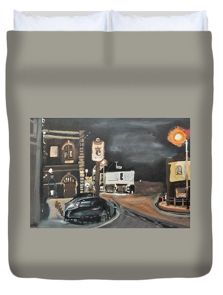 Chertsey At Night 1 Duvet Cover