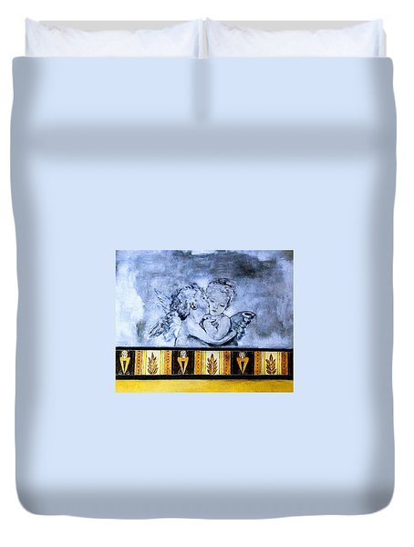 Cherub Friendship Duvet Cover by Marion McCristall