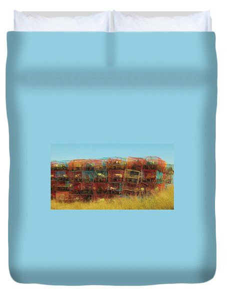 Chesapeake Bay Crabbing Duvet Cover