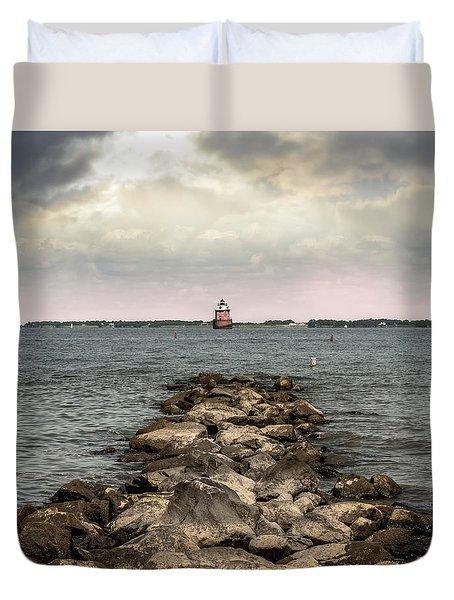 Chesapeake Bay Lighthouse Duvet Cover
