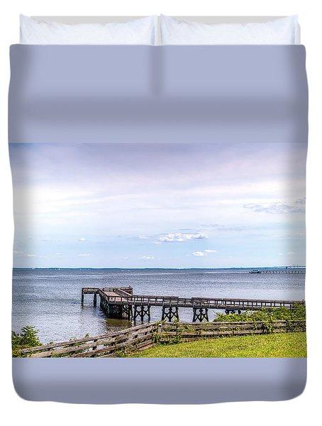 Chesapeake Bay Maryland Panorama Duvet Cover