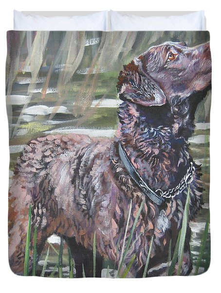 Chesapeake Bay Retriever Bird Dog Duvet Cover by Lee Ann Shepard