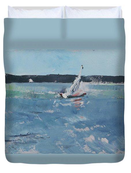 Chesapeake Bay Sailing Duvet Cover